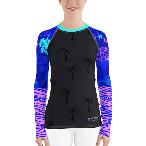 Women's Tropical Storm Sea Skinz Performance Rash Guard UPF 40+