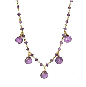Amethyst Droplet Vermeil Necklace