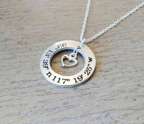 Image of Custom Coordinate Necklace