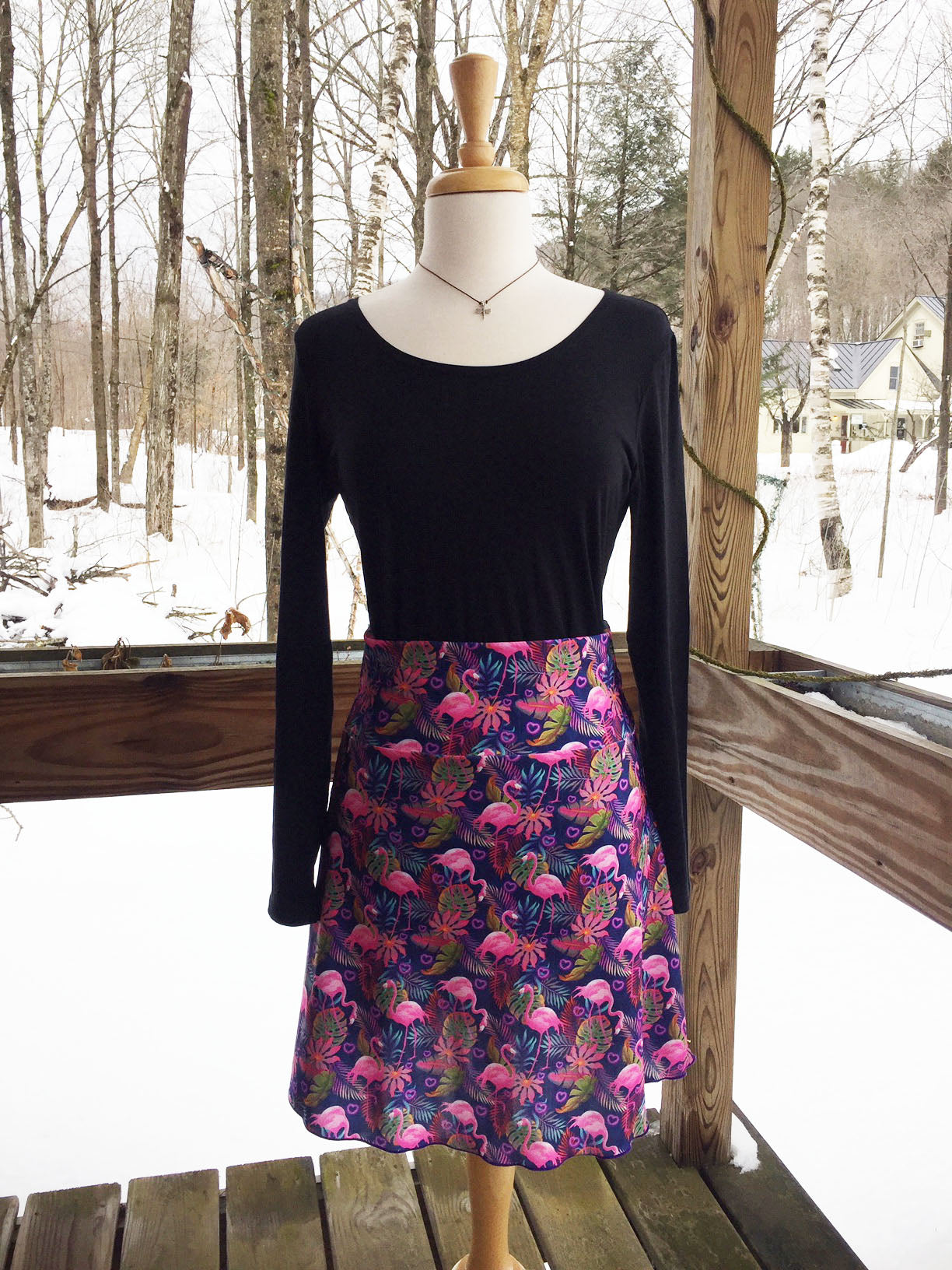 Reign Vermont Adventure Skirt in Flamingo