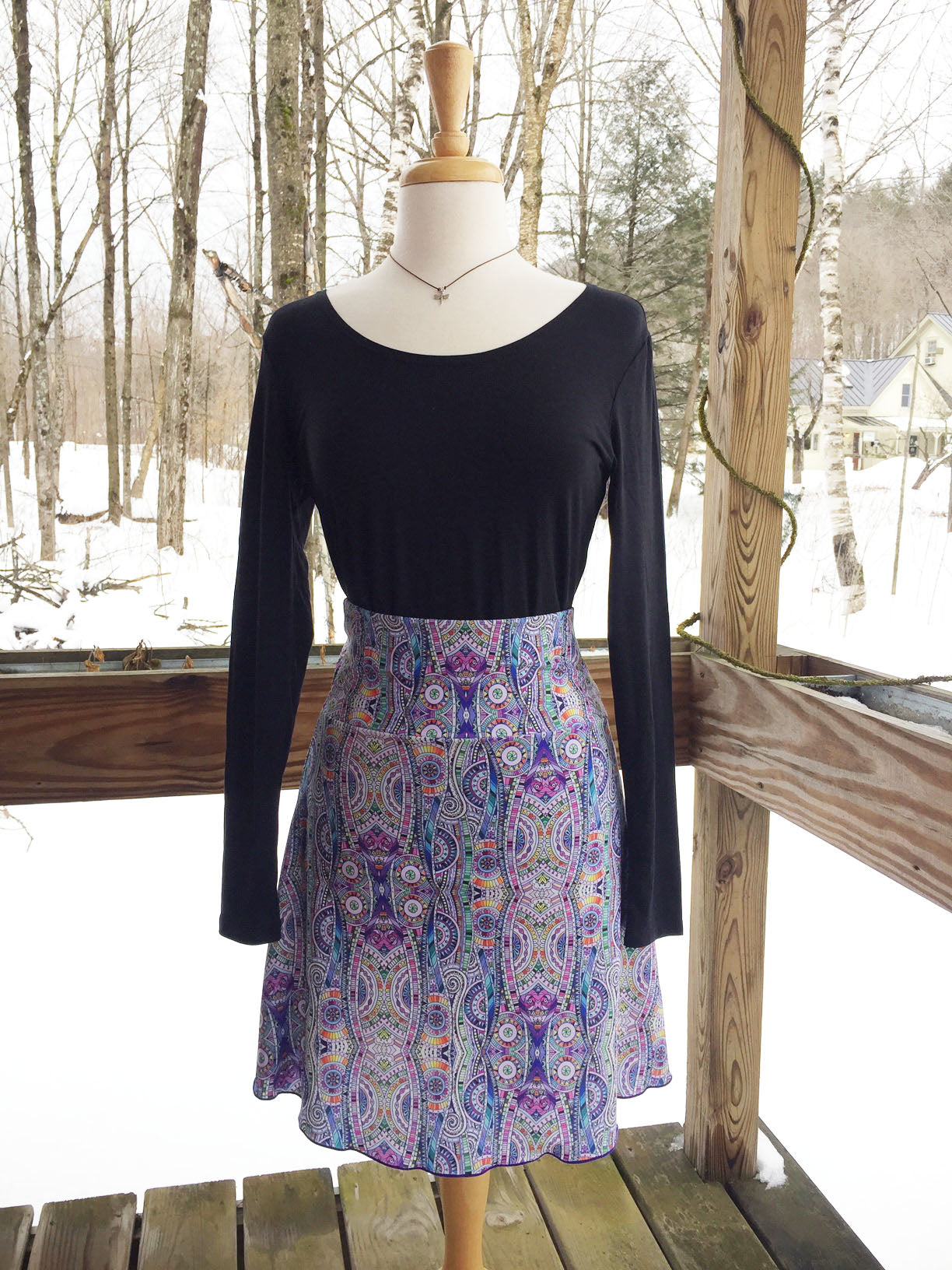 Reign Vermont Adventure Skirt in Mosaic