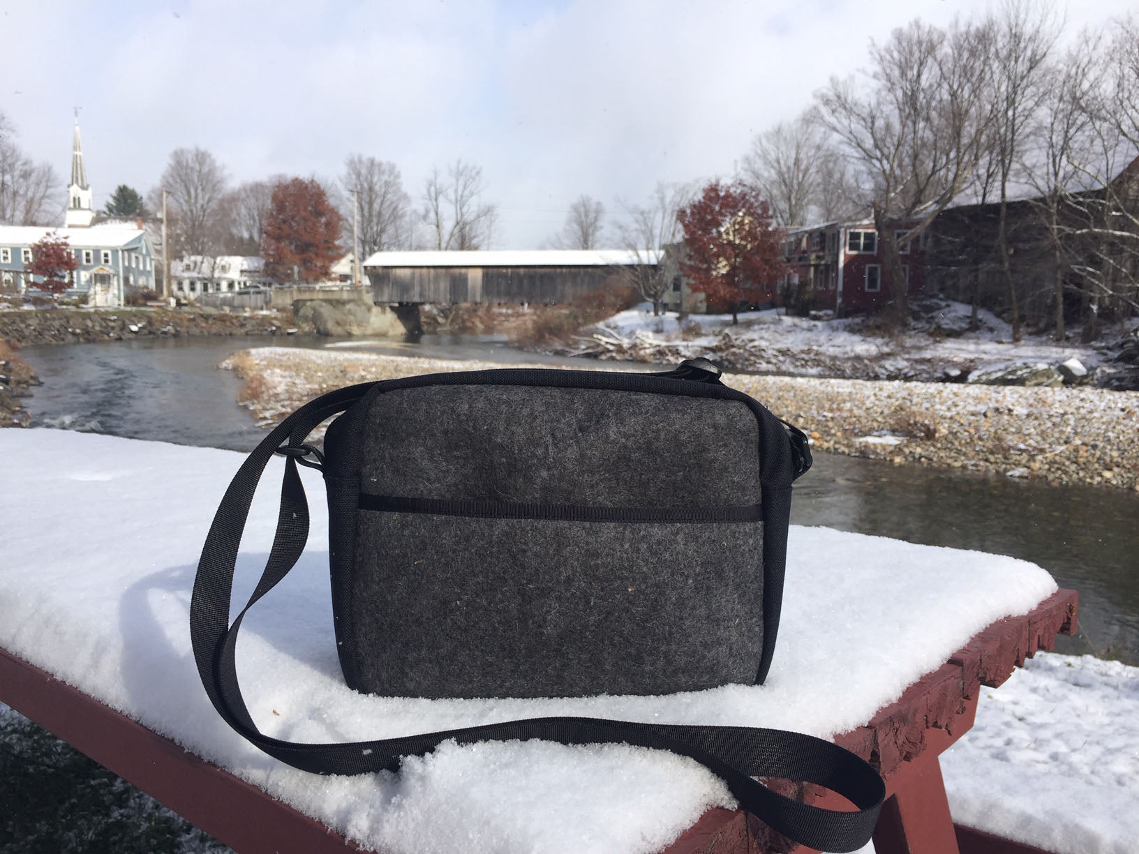 The Derby Bag in Gray Wool