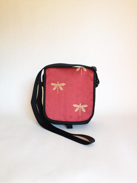 Day Purse in Red Dragonfly
