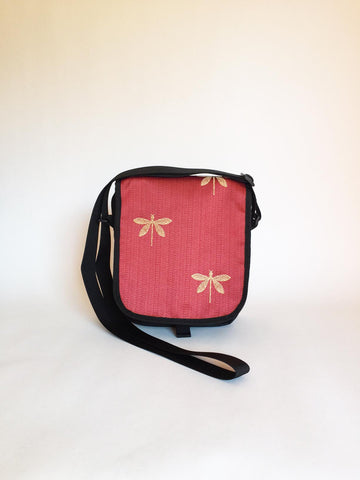 The Day Purse in Red Dragonfly