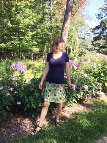 "Reign Vermont Adventure Skirt in ""Pretty as a Peacock"""