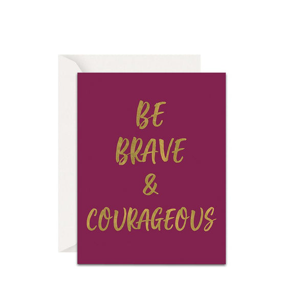 Brave and Courageous Christian Cards
