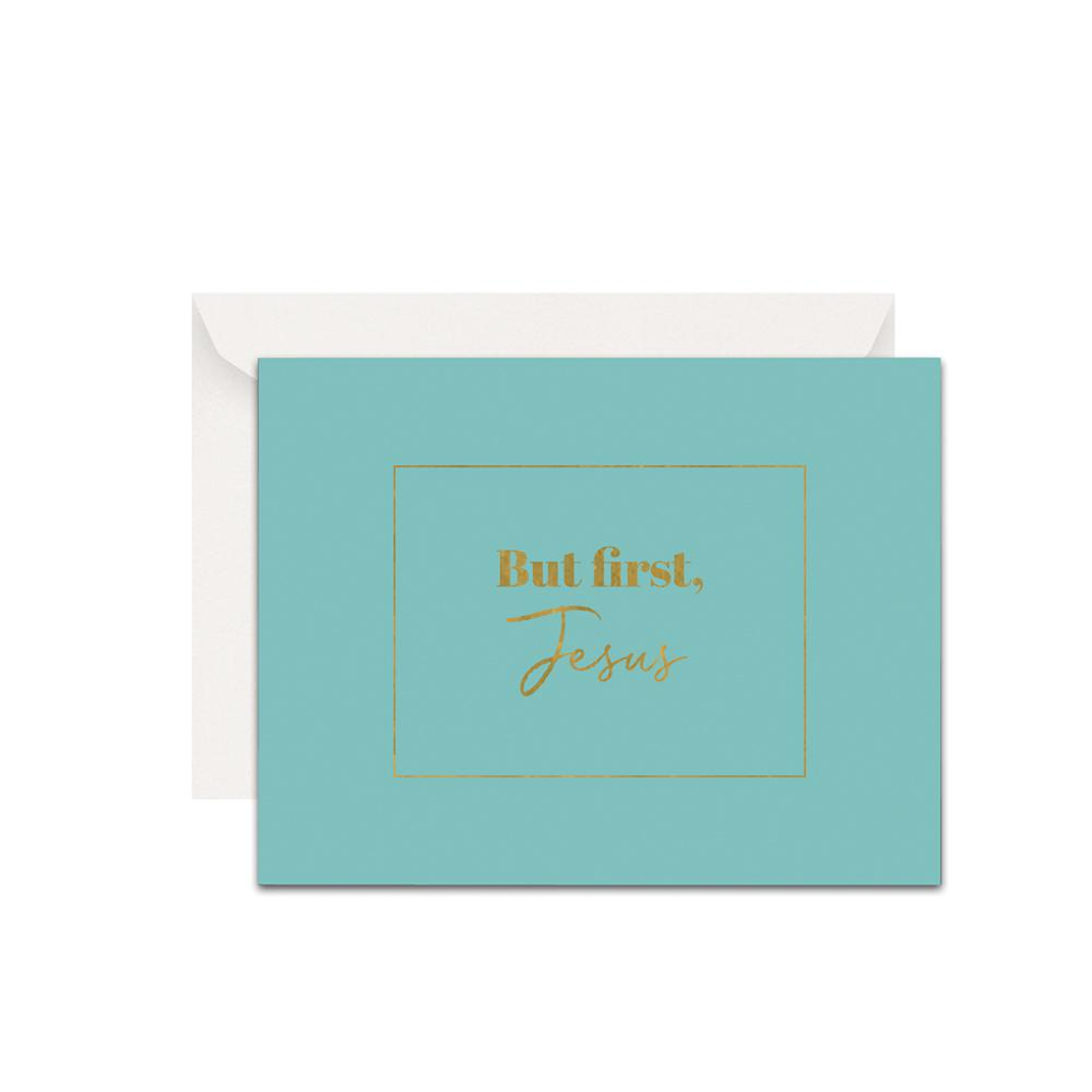 But First Jesus Christian Cards