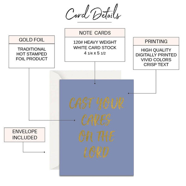 Cast Your Cares Christian Card