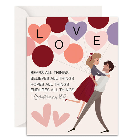 Love Bears All Things Christian Valentine's Day Cards