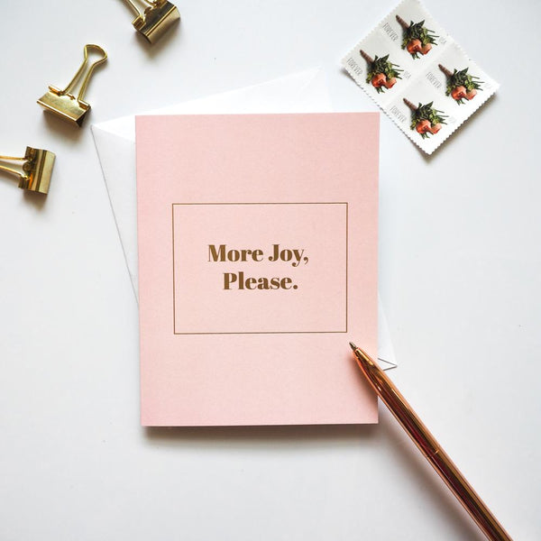 More Joy Please Christian Card