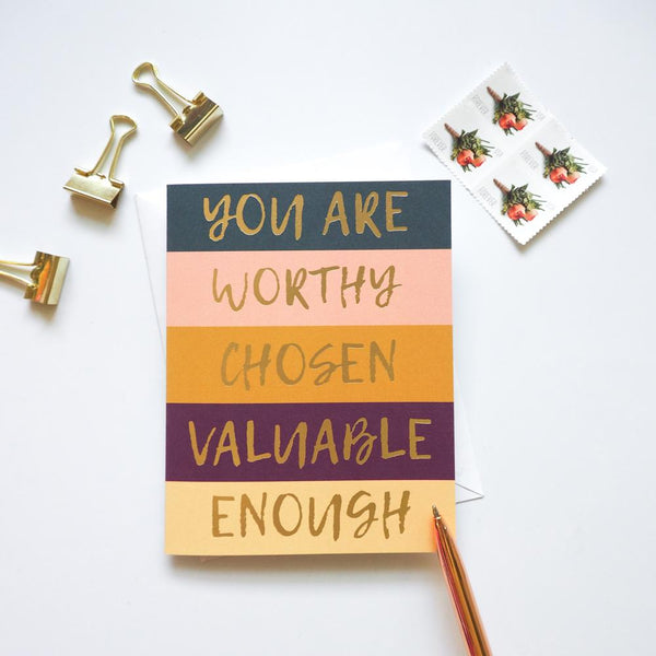 You Are Worthy Christian Card