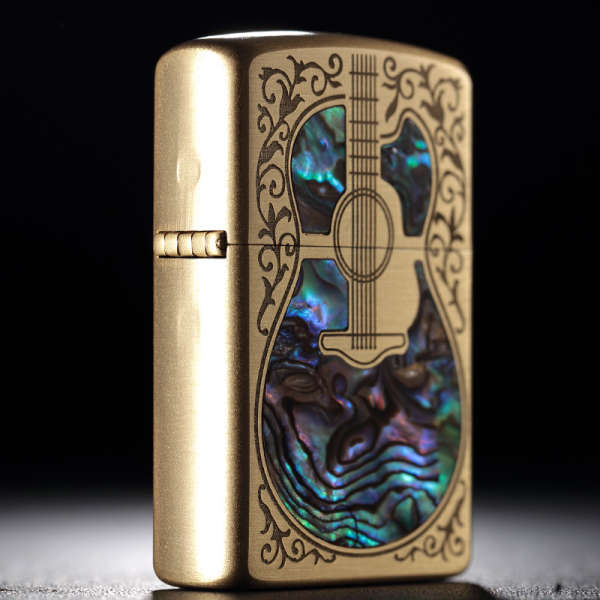 Briquet Essence<br />  Guitare Nacrée