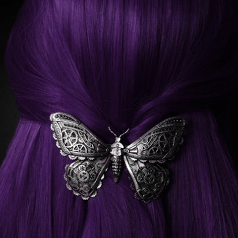 Steampunk Clockwork HairClip | Sliver Clockwork Butterfly