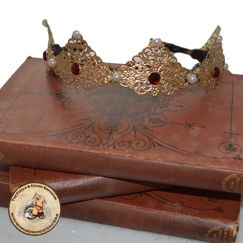 Capulet Regal Crown A Golden Gothic Tiara A Beautiful Alternative Headdress
