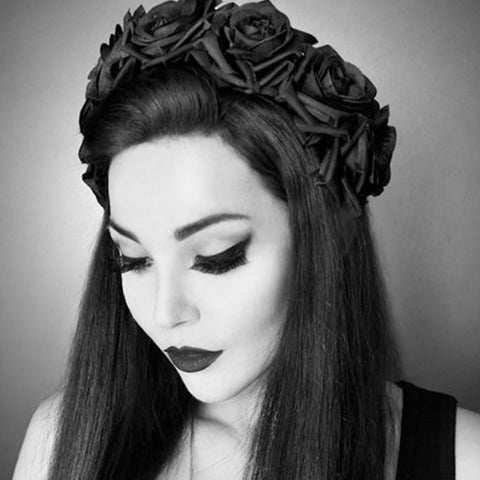 Celestial Rose Crown Hairband | Gothic HairBand
