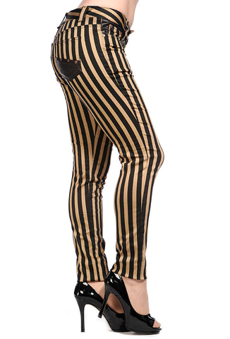 Steampunk Jeans | Steampunk Trousers | Striped Alternative Jeans
