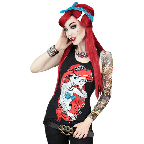 Gothic T-Shirt | Dark Ariel Gothic T-Shirt | Little Mermaid Gothic T-Shirt