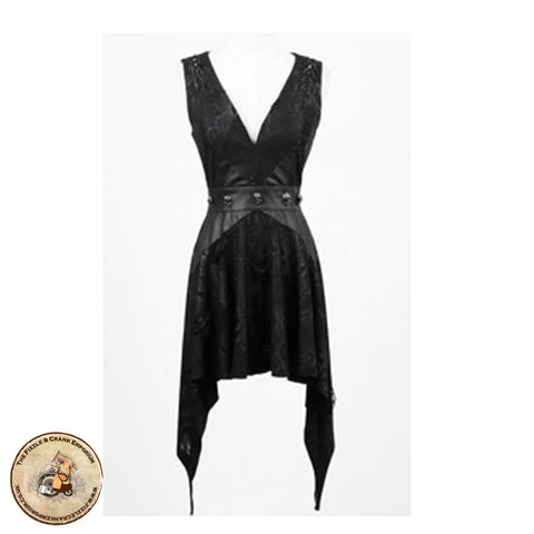 Gothic Skulls Dress | Victorian Gothic Short Punk Rave Dress