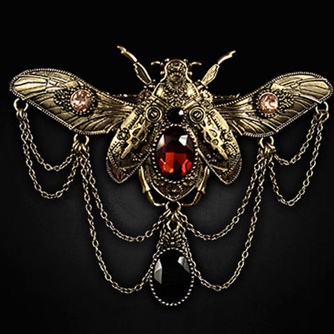Steampunk Hairclip | Beetle HairClip | Jewelled Beetle Hair Clip