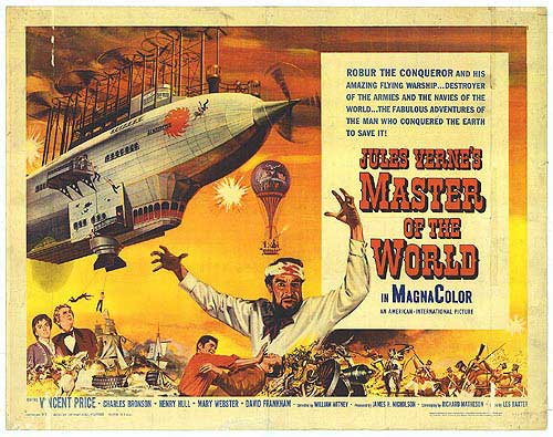 Steampunk Movie Poster Master of the World
