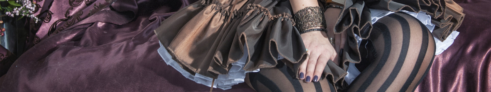 Steampunk Skirts & Steampunk Trousers. A Unique Selection of Splendid Steampunk, Gothic and Victorian Skirts and Bustles are available here