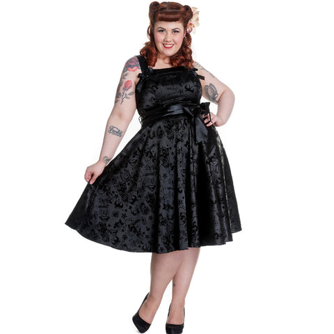 Rockabilly Gothic | Retro Gothic Dress | Steampunk Dress | Tattoo Dress | Fifties Gothic Dress | Black Party Dress | Gothic Party Dress