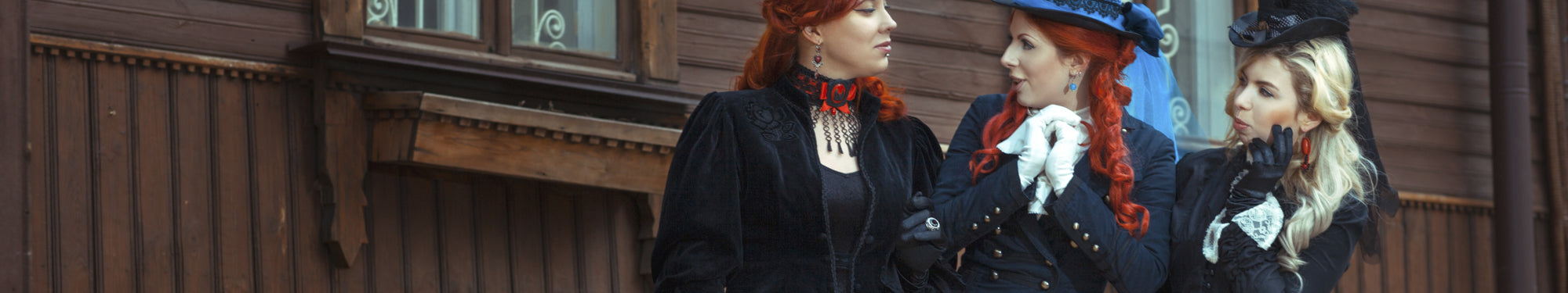 Steampunk Top & Steampunk jackets. Collection of Victorian Shirts, T-Shirts, Bolero's, Shrugs and Jackets are available here.