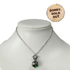 Victorian Vintage Absinthe Bottle Gothic Necklace