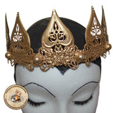 Gothic Gold Crown | The Angel Crown in Gold | Gold Alternative Headdress | Elven Crown in Gold