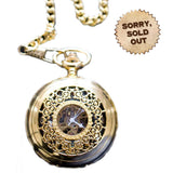 Captain Wilson's Golden Steampunk Pocketwatch