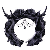 Gothic Victorian Hairband with Horns| Gothic Hairband | Steampunk Fascinator