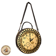 Clockface Steampunk Handbag | Classic Steampunk Bag | Victorian Clock Handbag | Clock Bag