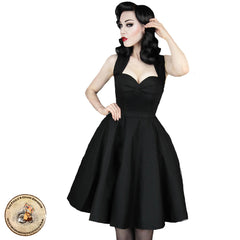 Goth Clothing | Fifties Swing Dress | Alternative Black Dress