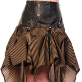 Steampunk Skirt | Crank It Up Steampunk Skirt | Brown Steampunk Skirt | Modern Victorian Waterfall Skirt | Banned Skirt | Gothic Skirt