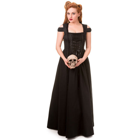Daysleeper Gothic Vamp Maxi Dress