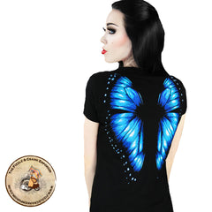 Gothic T-Shirt | Gothic T Shirt | Goth T-Shirt with Butterfly on the Back