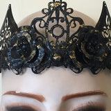 Gothic Crown | Epoch Empire Alternative Headdress | Gothic Headdress | Black and Gold Crown | Gothic Tiara