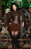 Steampunk Shirt Black and Brown Striped Victorian Shirt includes black harnes and bell sleeves great with underbust corsets 6