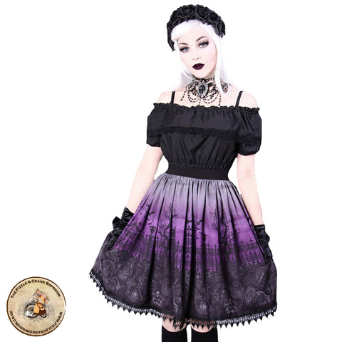 Gothic Lolita Skirt | Purple Cemetery Skirt | Buffy the Vampire Slayer Skirt | Gothic Skirt