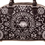 Gothic Handbag | Victorian Occult Mystic Bag | Charm and Symbol Gothic Bowling Bag