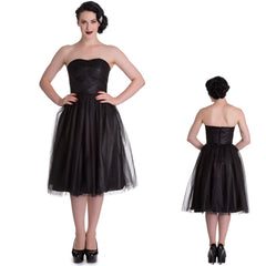 Tillie Tulle Black Alternative Party Dress