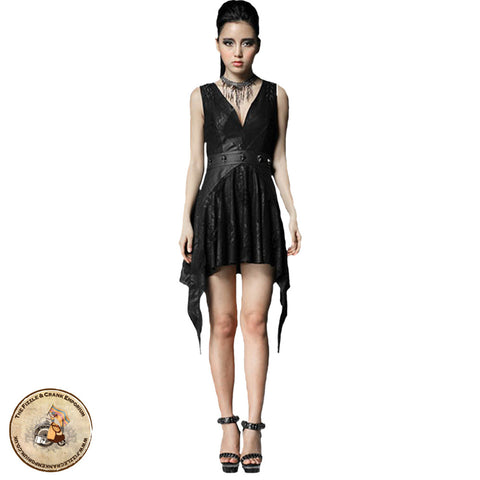 Gothic Victorian Dress | Punk Rave Gothic Dress with Skulls | Alternative Dress | Gothic Dress