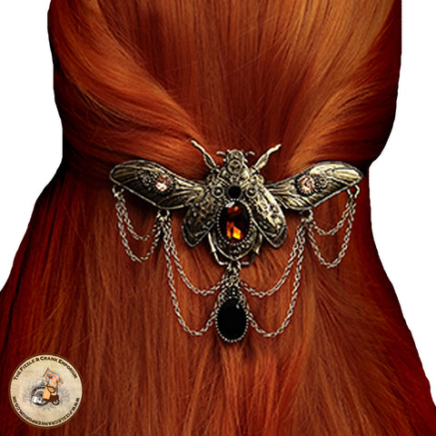 Gothic Hairclip | Jewelled Beetle HairClip