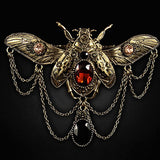 Jewelled Beetle Steampunk Gothic HairClip