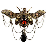 Pretty Gothic hairclip | Jewelled Beetle hair Jewellery