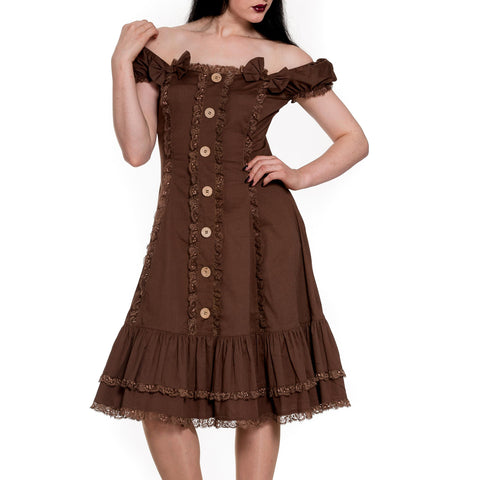 Loretta Brown Steampunk Dress