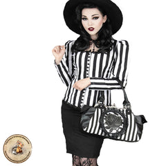 Gothic Jacket | Striped Gothic Shirt | Alternative Clothing