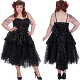 Gothic Prom Dress. Vintage Victorian Party Dress. Steampunk Dresses
