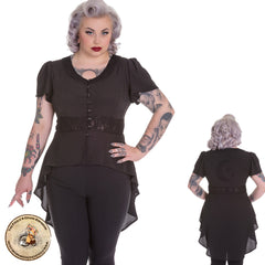 Steampunk Tailcoat | Gothic Tailcoat | Moon and Stars Jacket | Flowing Blouse | Tailcoat Top | Gothic Top | Gothic Jacket | PLus Size Gothic Top | Plus Size Steampunk Top