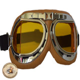 Brown Steampunk Motorcycle Goggles